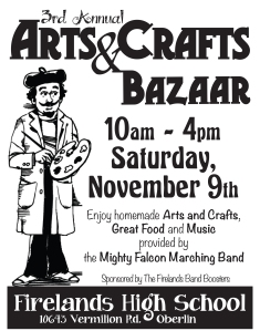 8x10 craft show poster