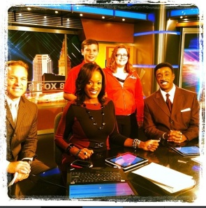 fox 8 in studio