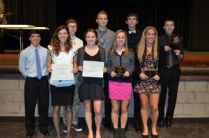 Firelands boys and girls 1st and 2nd team awards soccer