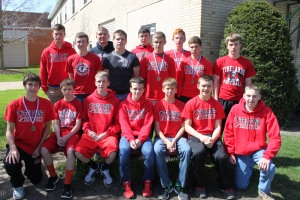 Members of the boys track team that competed at the PAC  Championship Meet