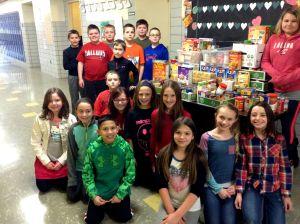 FES food drive 2015