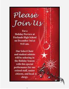 Holiday Preview invite staff, senors and clergy