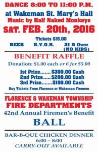 FTFD Firemans Ball poster 2016