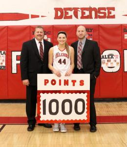Keely Hall and coaches
