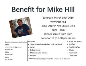 mike hill benefit