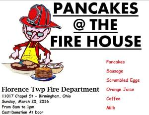 Florence Twp Fire Pancake break