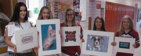 FHS art students in Columbus Emerging Artist show 2017