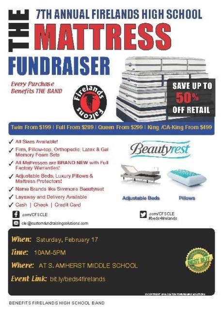 mattress fundraiser 2018