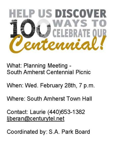 SA Centennial Picnic Plan