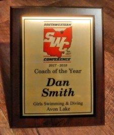 Dan Smith Coach of The Year 17 18