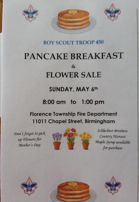 Boys Scout Pankcake Breakfast spring 18