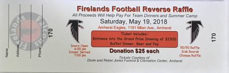 Firelands Football Reverse Raffle 2018