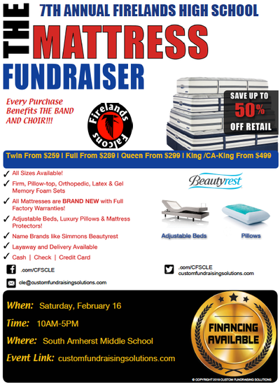 mattress fundraiser 2019
