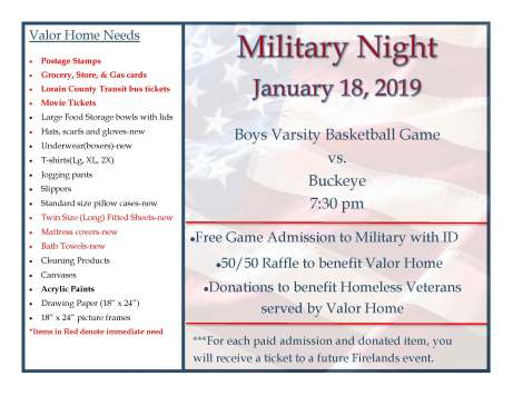 military night january 2019