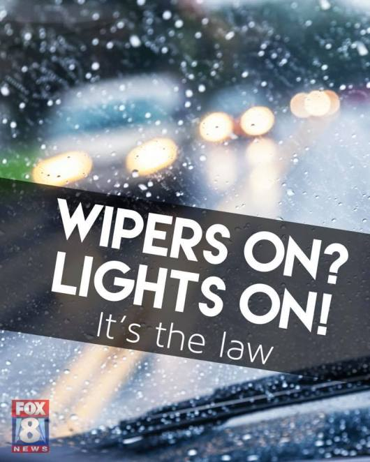 wipers on lights on