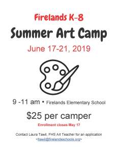 Art Camp Poster 2019