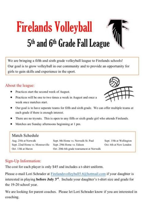 fall volleyball league 2019