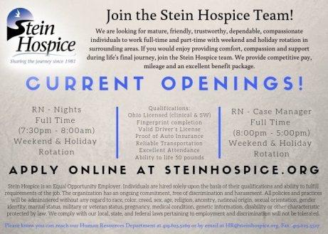 Stein Hospice 2019 Hiring