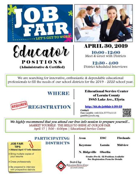 Teacher job fair 4 2019