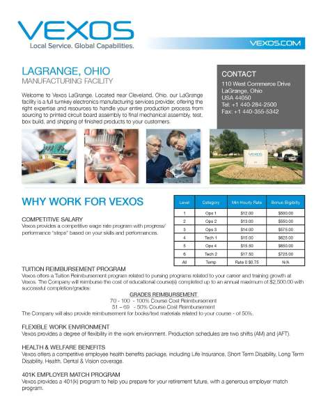 Vexos LaGrange - Facility Fact Sheet