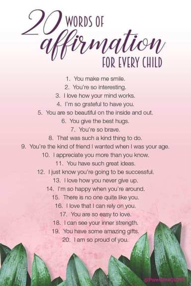 Affirm for every child