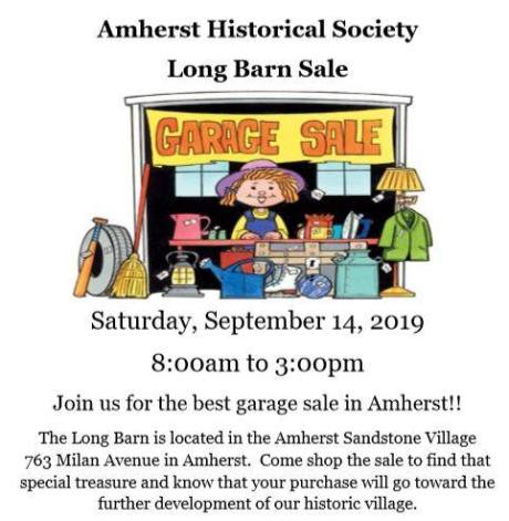 Amherst Historical Society Sale 2019