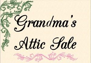 Grandmas attic sale logo