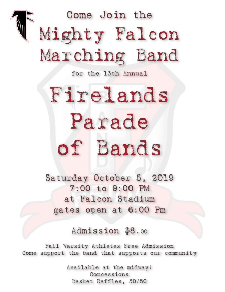 2019 Parade of Bands Flyer